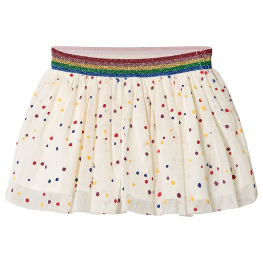 Stella McCartney Kids White Honey Skirt with Multi Coloured Dots Print 9085 - Multicolor Dots Pr