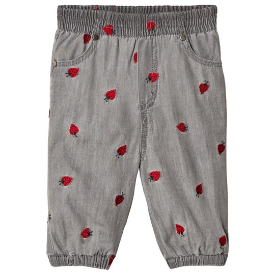 Stella McCartney Kids Grey Pipkin Baby Pants with Embroidered Ladybirds 1263 - Lady Bugs Embro