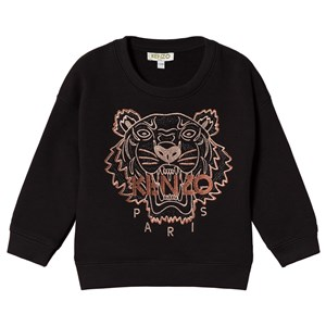 Image of Kenzo Black and Gold Embroidered Tiger Sweater 10 years (3056081719)