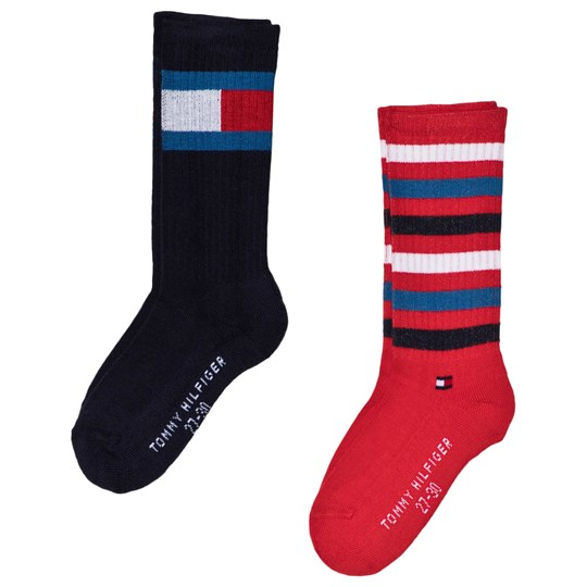 Tommy Hilfiger Middle Midnight Blue Flag Socks 2-Pack Midnight Blue