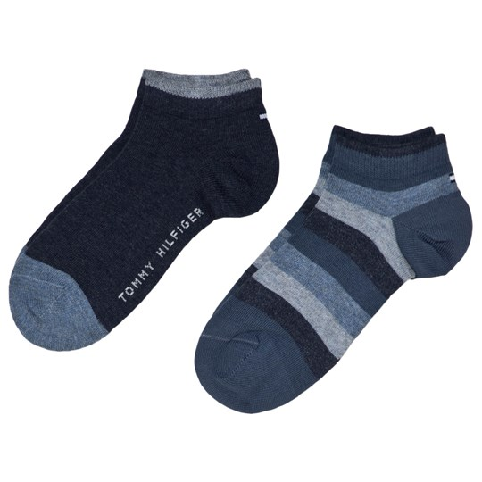 Tommy Hilfiger Jeans Color-Blocked Quarter Socks 2-Pack Jeans