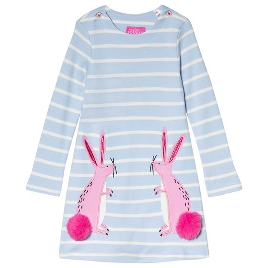 Tom Joule Sky Blue Stripe Kaye Dress SKY BLUE BUNNIES