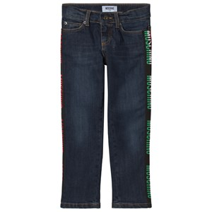 Image of Moschino Kid-Teen Blue Logo Jeans 5 years (1174557)