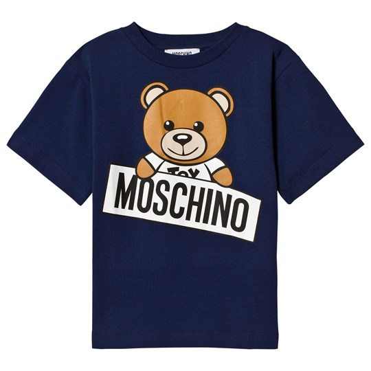 Moschino Kid-Teen Blå Björntryck T-shirt 40016