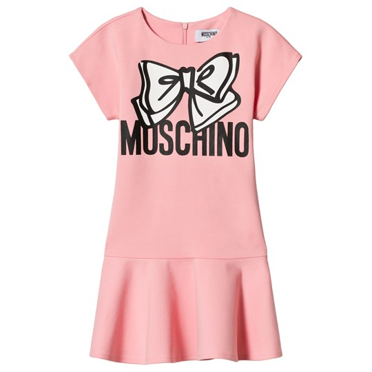 Moschino Kid-Teen Pink Bow Branded Skater Dress 51664