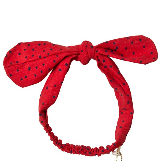 Soft Gallery Bow Hairband Mini Dots Mars Red Mars Red