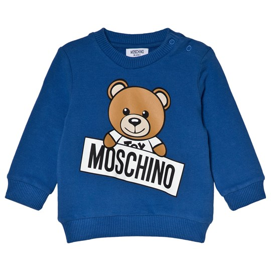Moschino Kid-Teen Blå Björn Sweatshirt 40931