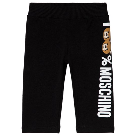 Moschino Kid-Teen Black 100% Moschino Bear Print Leggings 60100