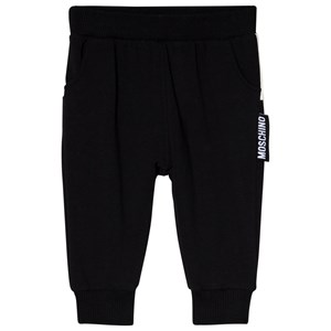 Image of Moschino Kid-Teen Black Branded Back Sweatpants 3-6 months (3056104173)