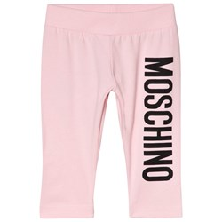 Moschino Kid-Teen Pink Branded Leggings