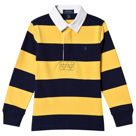 Ralph Lauren Yellow and Navy Stripe Rugby Tee with PP 003