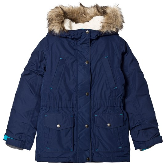 Lands' End Navy Expedition Down Parka Deep Sea HME