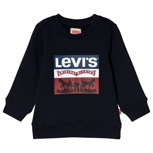 Levis Kids Navy Authentic Logo Print Sweatshirt 45