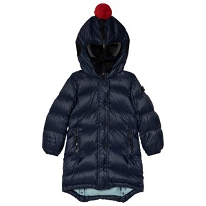 Image of AI Riders on the Storm Navy Long Line Down Google Hood Jacket 10 years (3056086707)