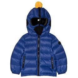 AI Riders on the Storm Blue Down Goggle Hood Coat