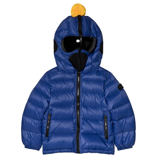 AI Riders on the Storm Blue Down Goggle Hood Coat 207