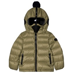 AI Riders on the Storm Olive Down Goggle Hood Coat