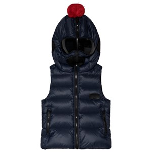 Image of AI Riders on the Storm Navy Down Goggle Gilet 10 years (3056086777)