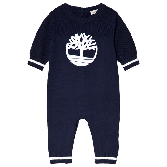 Timberland Navy Tree Logo Knit Onesie 85T