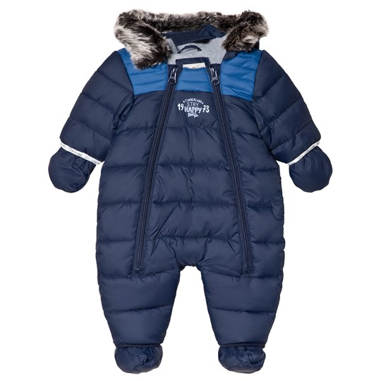 Timberland Navy Water Repellent Snowsuit with Fleece Lining with Detachable Booties 85T