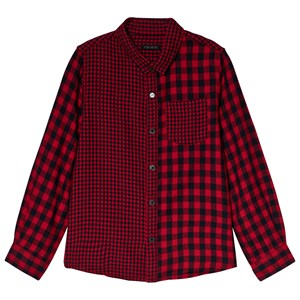 Image of IKKS Dark Red Checked Shirt 6 years (3056095981)