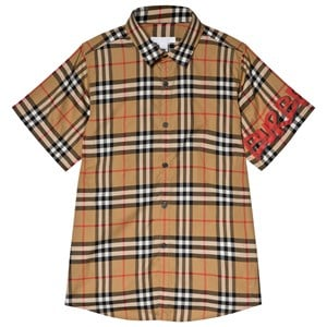 Image of Burberry Antique Check Dean Long Line Shirt 10 years (3056066545)