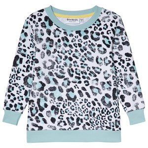 Bilde av Beau & Rooster Leopard Love Basic Kids Sweater Canal Blue 98/104 Cm