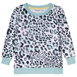 Bilde av Beau & Rooster Leopard Love Basic Kids Sweater Canal Blue 122/128 Cm