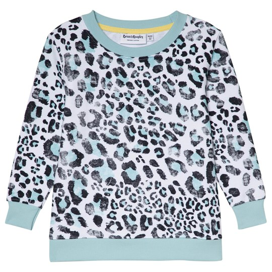 Beau & Rooster Leopard Love Basic Kids Sweater Canal Blue Canal Blue