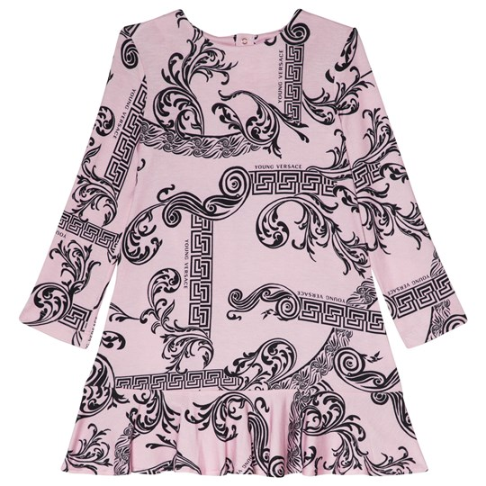 Versace Pink Palazzo and Baroque Jersey Dress 4518