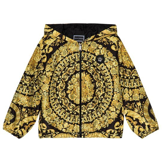 Young Versace Barocco Print Hooded Jacket 4269