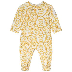 Image of Young Versace Barocco Print Hooded Jacket 12 months (3056076853)