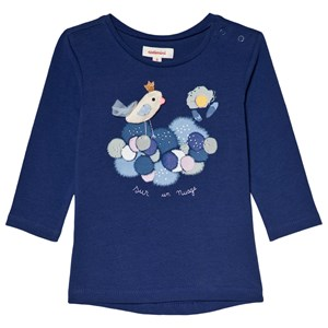 Image of Catimini Blue Bird Applique and Print Tee 12 months (3056083955)