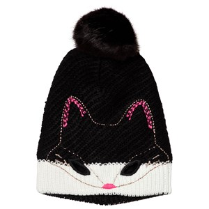 Image of Catimini Black Cat Face Knit Beanie 49cm (2-3 years) (3056084073)