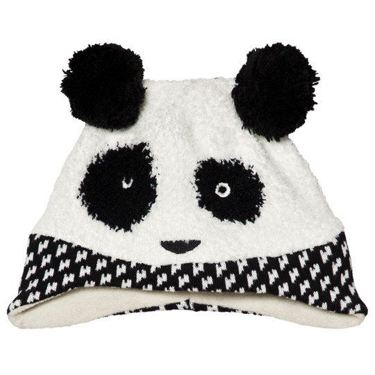 Catimini Black Panda Knit Beanie 19