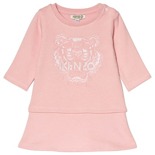 Kenzo Pink Marl Tiger Embroidered Dress 33