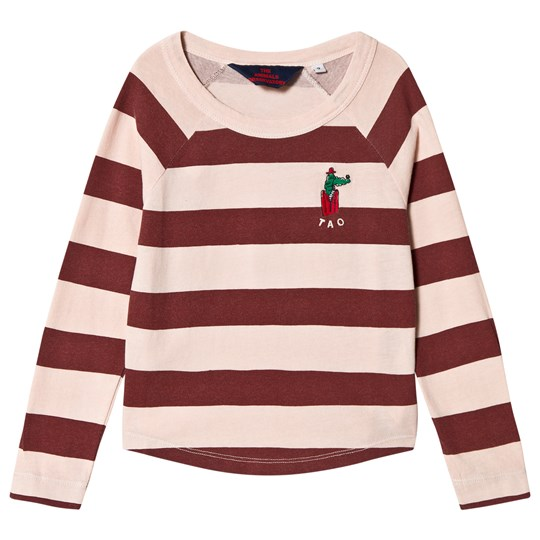 The Animals Observatory Cricket T-shirt Rose Maroon Stripes Rose Maroon Stripes