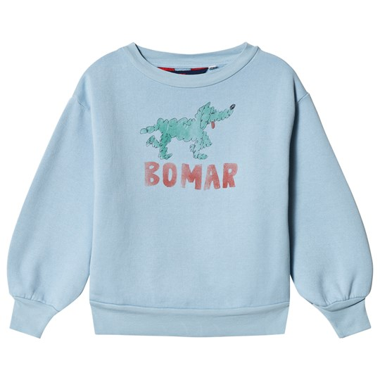 The Animals Observatory Bear Kids Sweatshirt Blue Green Bomar Blue Green Bomar