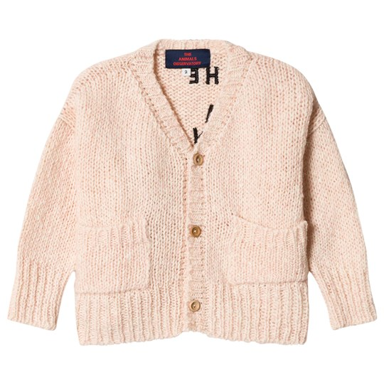 The Animals Observatory Rustic Peasant Cardigan Soft Pink The Soft Pink The Animals