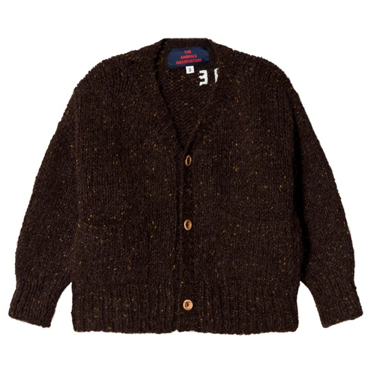 The Animals Observatory Rustic Peasant Cardigan Deep Brown The Deep Brown The Animals