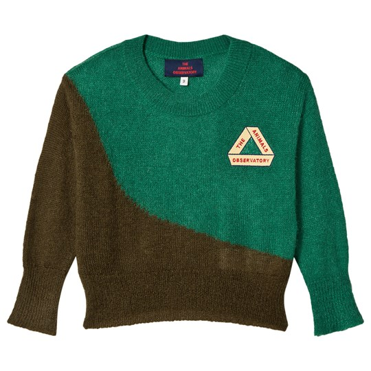 The Animals Observatory Bicolor Bull Sweater Electric Green Triangle Electric Green Triangle