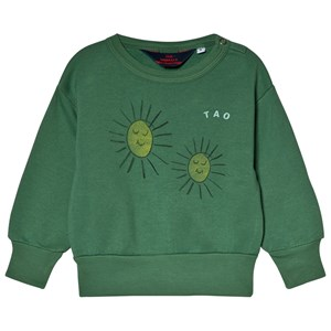 Image of The Animals Observatory Bear Baby Sweatshirt Green Yellow Suns 6 mdr (3056065255)