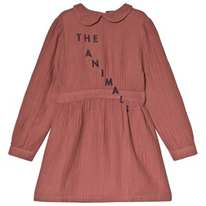 Image of The Animals Observatory Canary Dress Maroon Navy The Animals 3 år (3056065643)