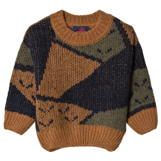 The Animals Observatory Arty Bull Sweater Deep Brown Deep Brown