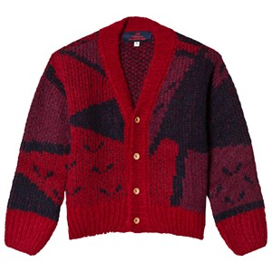 Image of The Animals Observatory Arty Peasant Cardigan Red Apple 2 år (3056065907)
