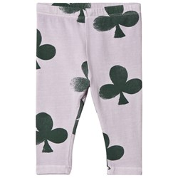 The Animals Observatory Penguin Baby Leggings Purple Clovers