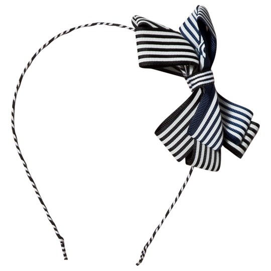 Molo Grosgrain Bow Hairband Mixed Stripes Mixed Stripes