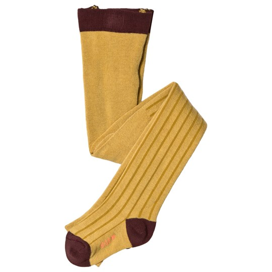 Tinycottons Stripes Tights Mustard/Sand mustard/sand