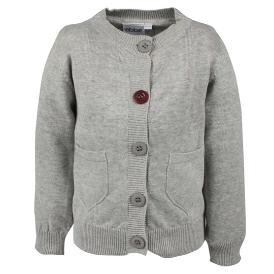 ebbe Kids Marni Cardigan Grey Mel Black