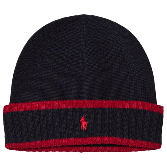 Ralph Lauren Navy and Red Knit Hat with PP 001